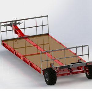 Žemagrindės platformos technikos pervežimui